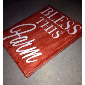 Bless This Farm Painted Canvas Sign