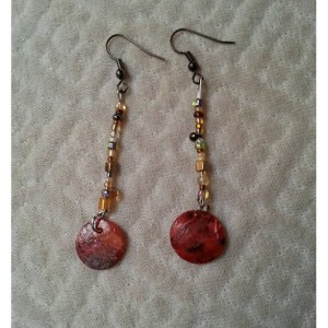 Seed bead earrings - Boho Sunset