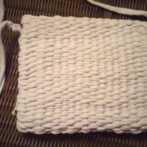 Hand made in USA, woven loomed lilac crossbody removable strap purse, clutch, washable free shipping