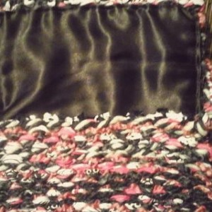 USA hand made rag rug style mixed fabrics loomed woven cross body clutch purse free shipping