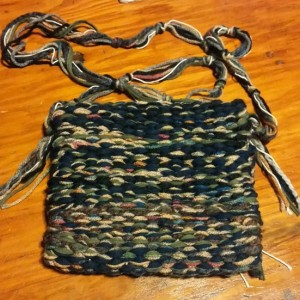 USA handmade woven loomed removable crossbody strap purse, clutch, multi colored, earthtones, free shipping, washable