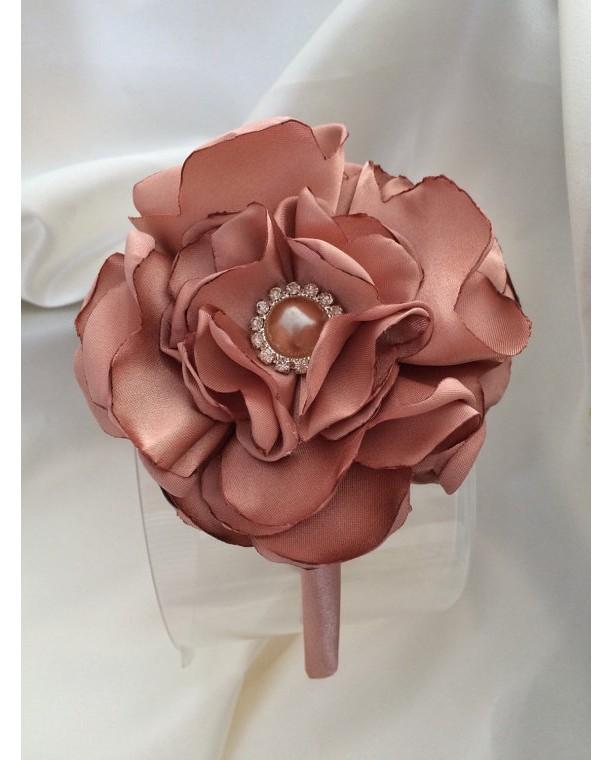 Fabric Satin Flower Headband