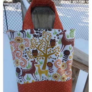 Quilted Library Tote