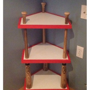 Custom Baseball Bat, Home Plate Corner Stand,  Baseball Themed Room, Home Decor, Nightstand, End Table, Man Cave