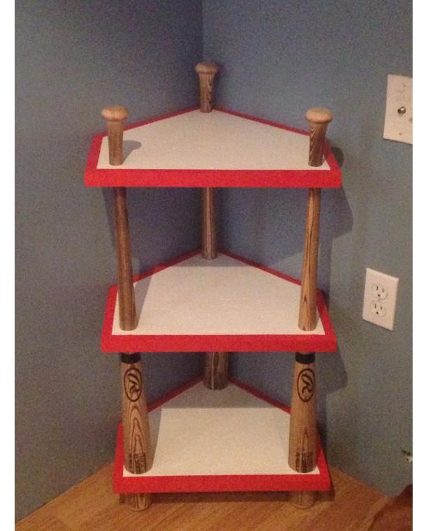 Baseball Home Decor: Custom Baseball Bat, Home Plate Corner Stand, Baseball
