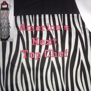 """America's Next Top Chef"" Zebra Print Apron"