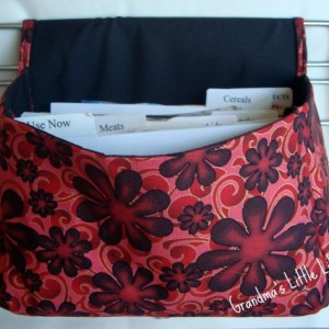 Super Large Size Coupon Organizer / Budget Organizer Holder Box - Attaches to Your Shopping Cart