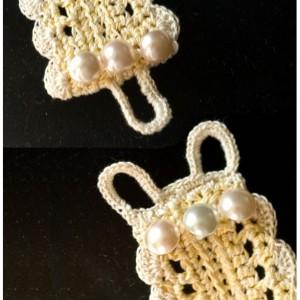 Girly-girl cuff Crocheted Cotton Cuff - 201