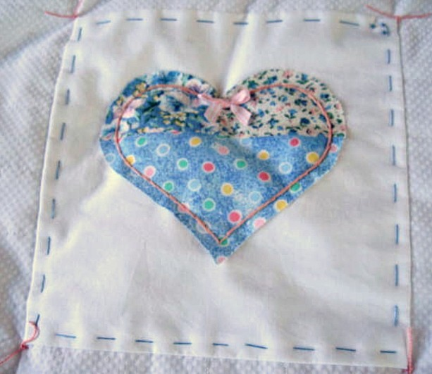 Unique White Baby Quilt White Minky With Hand Embroidery