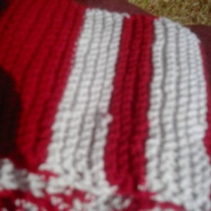 Hand Knit Scarf, Maroon and Grey Scarf, Great for Winter, Warm and Cozy