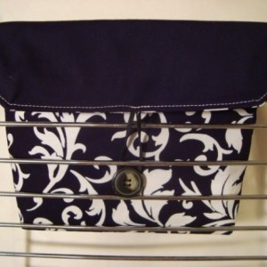 Coupon Organizer / Budget Organizer Holder - Attaches To Your Shopping Cart - Black with white Scrolls  READY TO SHIP