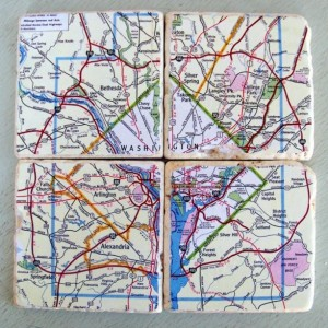 Washington D.C. Map Coasters
