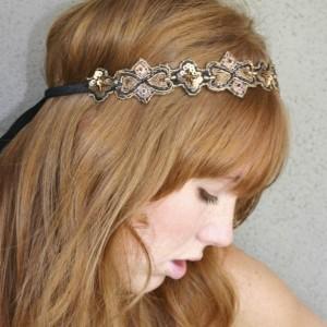 Bohemian Hippie Chic Tie Headband for Women and Teens