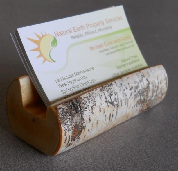 Birch Branch Business Card Holder