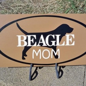 Sign, Beagle Art, Beagle Mom