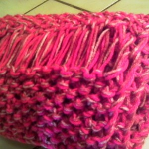 Bright Pink Knit Scarf - Bubble Gum Pink Scarf - Makes a Great Gift - Warm and Cozy Scarf