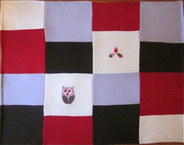 OWL Cashmere Baby Blanket - Heirloom Quality Patchwork Quilt made ... : quality quilt - Adamdwight.com