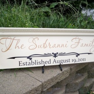 Family Name Sign, Personalized Wedding Sign, Established Sign, Personalized Family Name Sign, Name Sign, Custom Name Sign, Molding SIgn