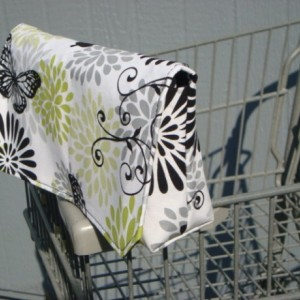 Fabric Coupon Organizer /Budget Organizer Holder - Attaches to Your Shopping Cart - Butterfly Floral
