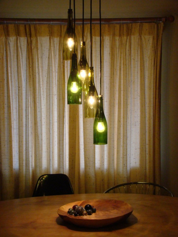 Cascading Wine Bottle Chandelier Aftcra