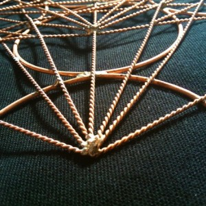 Metatron's Cube in copper