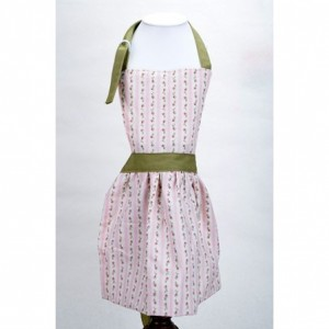 Pink and Green Little Girl's Apron