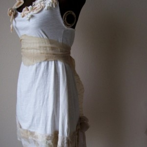 Simple Shabby Rustic Alternative Wedding Dress Made to Order Custom