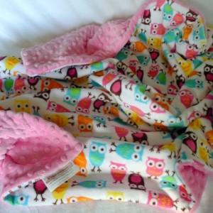 Baby Blanket, Owl Baby Blanket, Minky Baby Blanket, Baby Girl Blanket, Girl Baby Blanket, Baby Shower Gift