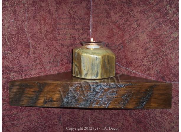 ReClaimed Wood Corner Shelf Small, Barn Wood, Barnwood Shelf, Rustic, Country corner shelf