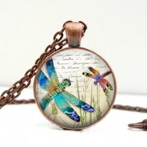 Jewel Dragonflies Necklace