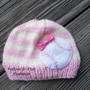 Girls Knit PINK striped BASEBALL  Beanie, girls accessories, kids fashion, girls fashion, girls hats, outerwear for girls, Baby beanies,