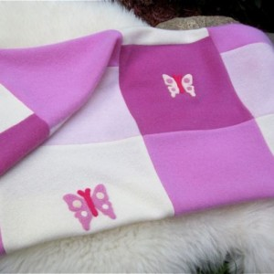 Pink Cashmere Baby Quilt Pure Cashmere - Made to Order - Upcycled Sweaters - So Soft. Great Baby Shower Gift