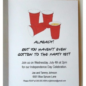 4th of July Invitation On The Fourth