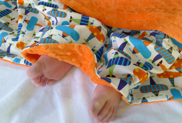 Airplane Blanket - Baby Boy or Toddler Blanket - Air Planes - Minky Blanket - Crib Blanket - Organic Cotton Baby Blanket - Baby Boy