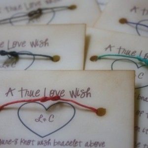 Rehearsal Dinner Party Favors - Wish Bracelets