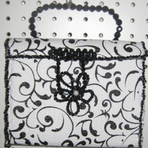 Black And White Square designer purse