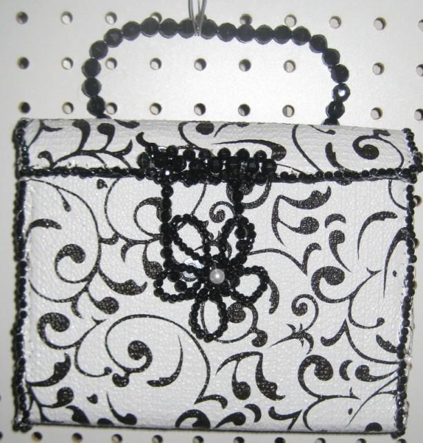 Black And White Square designer purse
