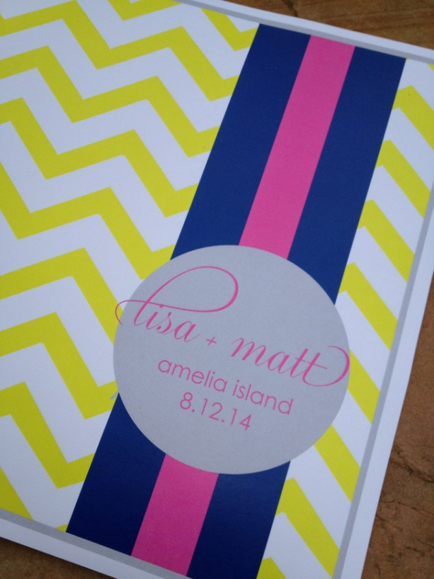 Colorful, Modern Rehearsal Dinner Placemats