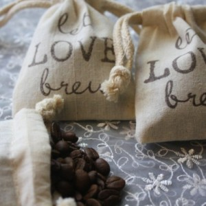Coffee or Tea Favor Bags -