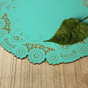 Doily - Decorative Wood Doily - Laser Engraved