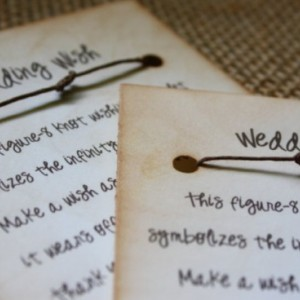 Wishing Bracelet Wedding Favors