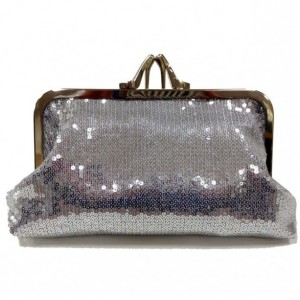 silver sequins heel clutch