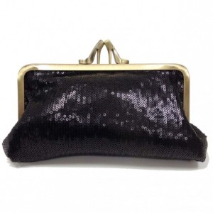 black sequins heel clutch