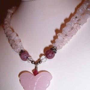 Amethyst Amazon Hilltribe Sterling Leaf Necklace/Earrings Set