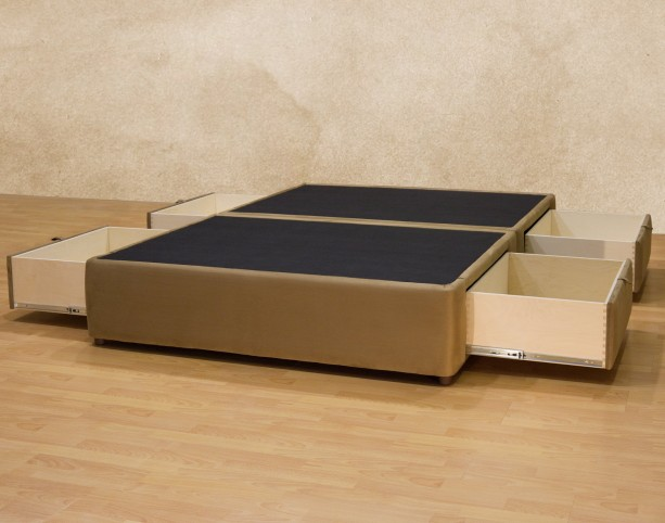 Elegant Upholstered Platform Storage Bed With Underneath