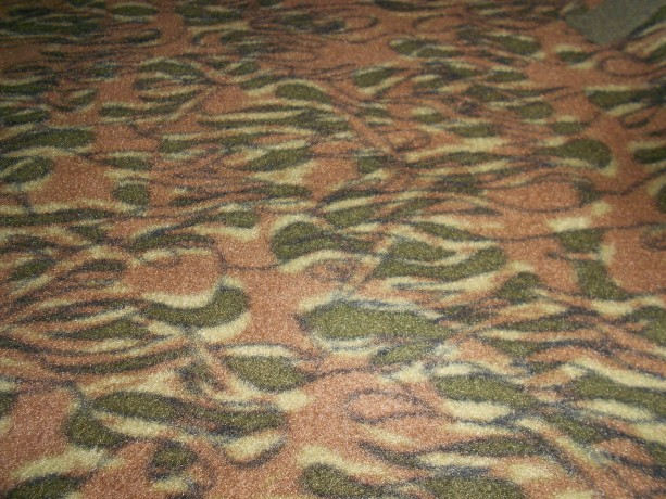 Fleece No Sew Hand Tied Blanket In a Camo Pattern with Olive Green Background FREE SHIPPING