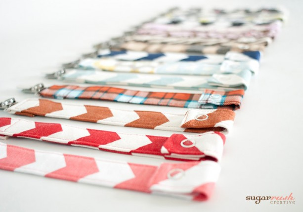 Snap Fabric Pacifier Clips