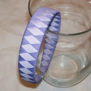 "Shades of Purple Woven 1"" Headband - Handmade - Iris, Lilac Ribbon Braided Woven Headband"
