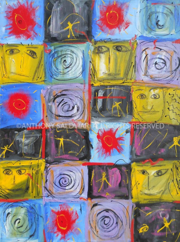 Abstract Art Painting  Modern ORIGINAL Colorful 30x40 by Anthony Saldivar
