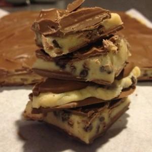Chocolate Chip Cookie Dough Bark / chocolate / unique  / fun / different /  gift / present / favor / milk / dark /white